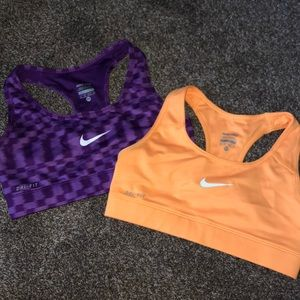 Women's Nike pro compression sports bras